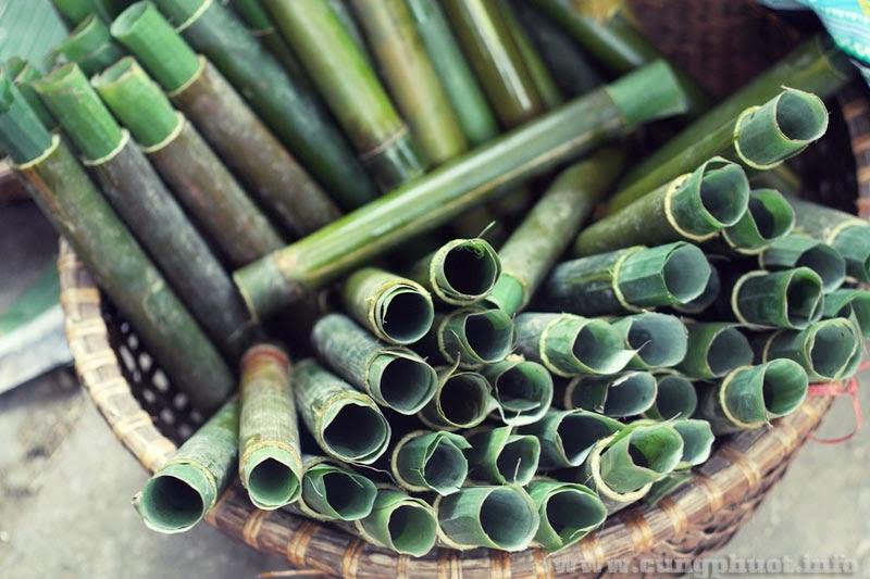 Nguyên liệu chế biến cơm Lam